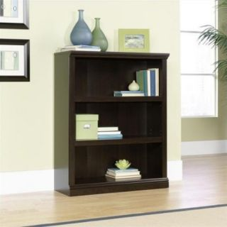Sauder Select 3 Shelf Bookcase in Jamocha Wood