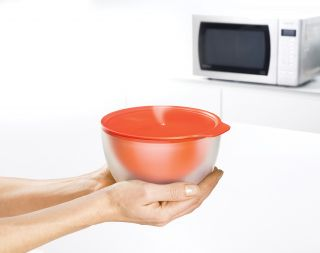 Cool Touch Bowl   Microwave Stone/Orange by Joseph Joseph