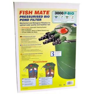 Fish Mate Pressurized Bio Pond Filter 3000 P Bio   650 2000 GPH   (For Ponds up to 1500 Gallons)