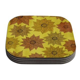 Its Raining Flowers by Pom Graphic Design Coaster by KESS InHouse
