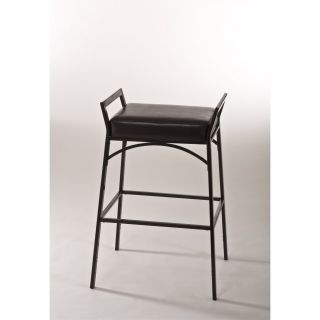 Hillsdale Furniture 5230 830 Hawthorne Backless Non Swivel Counter Bar Stool in Black with Nested Leg