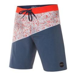 Mens ONeill Side Wave Boardshorts Neon Red   17334504