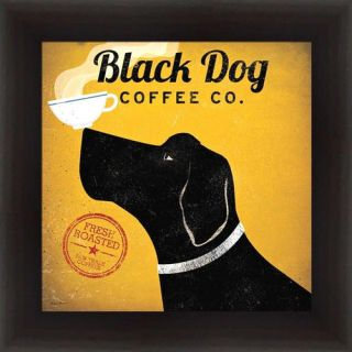 Buy Art For Less Black Dog Coffee Company by Ryan Fowler Framed