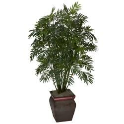 Mini Bamboo Palm w/ Decorative Vase Silk Plant   13908184