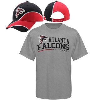 Reebok Atlanta Falcons Adjustable Hat and T Shirt Combo