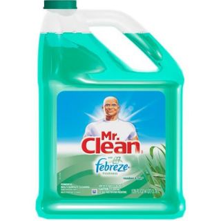 Mr. Clean Meadows & Rain Multi Surface Cleaner with Febreze, 128 fl oz