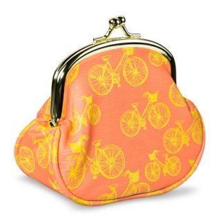 Mossimo Supply Co. Bicycle Coin Purse Wallet   Orange