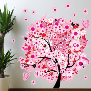 Style and Apply Yellow Blossom Wall Decal