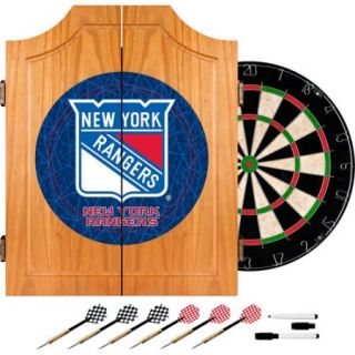 NHL New York Rangers Dart Cabinet includes Darts and Board