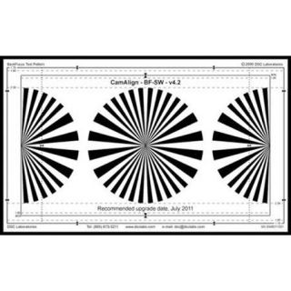DSC Labs DX 1 BackFocus Calibration Chart CDX1 10W