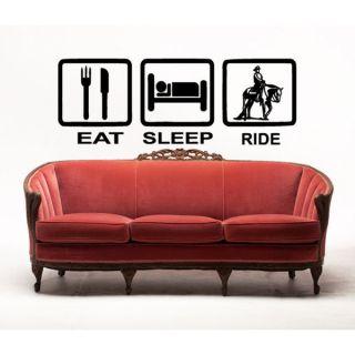Eat Sleep Ride Horse Vinyl Wall Art   17157565