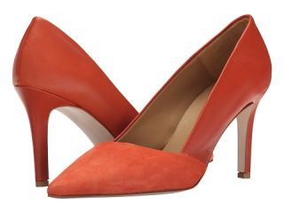 Massimo Matteo Suede and Leather Pump Red