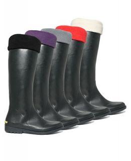 Betsey Johnson Rain Boot Fleece Socks   Knee Height Liners   Handbags