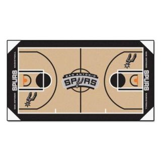 FANMATS San Antonio Spurs 2 ft. x 3 ft. 8 in. NBA Court Rug Runner 9505