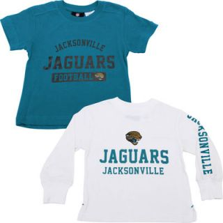 Jacksonville Jaguars Historic Logo Toddler 3 in 1 Combo T Shirt Set   Teal