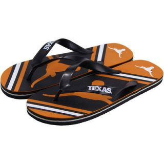 Texas Longhorns Unisex Big Logo Flip Flops   Black/Burnt Orange