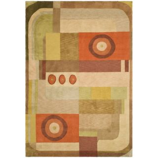 Safavieh Hand knotted Tibetan Abstract Pattern Multicolored Wool Rug