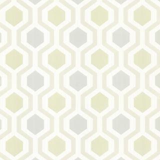 Brewster Wallcovering Cream Vinyl Geometric Wallpaper
