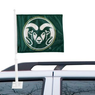 Colorado State Rams Logo Car Flag   Green