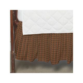 Plaid Fabric Crib Dust Ruffle by Patch Magic