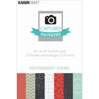 Captured Moments Double Sided Cards 6X4 30/Pkg Peppermint Swirl