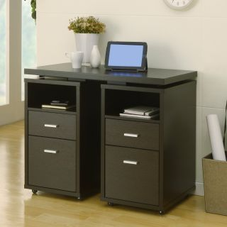 Furniture of America Cappuccino 4 Drawer Extendable Office Desk
