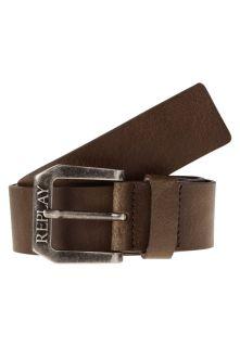 Replay Belt   dark brown wood