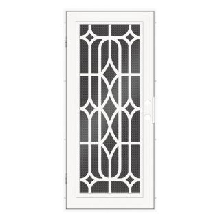 TITAN Essex Powder Coat White Aluminum Surface Mount Single Security Door (Common: 36 in x 80 in; Actual: 38.5 in x 81.563 in)