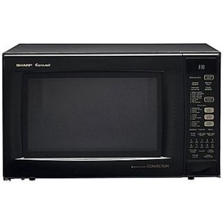Sharp 1.5 cu. ft. Convection Specialty Microwave Oven With Interactive Sensor, 900 W, Smooth Black