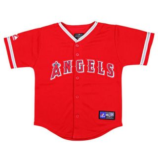 Majestic Los Angeles Angels of Anaheim Toddler Replica Baseball Jersey   Red