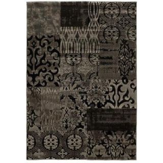 Linon Home Decor Jewel Collection Dark Beige and Beige 8 ft. x 10 ft. 4 in. Indoor Area Rug RUG BYJ0481
