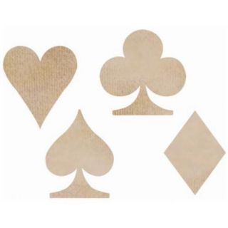Wood Flourishes Playing Card Suits