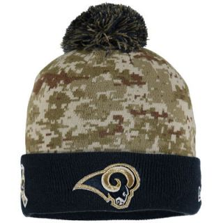 Los Angeles Rams New Era Youth On Field Sport Salute to Service Knit Hat   Camo