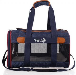 Pet Life Airline Approved Aero Zoom Lightweight Wire Framed Collapsible Pet Carrier   Dog Carriers