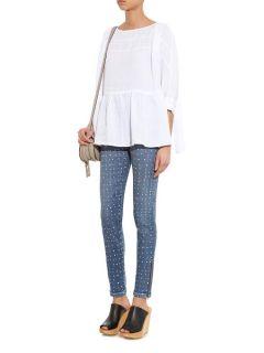 High rise polka dot skinny jeans  Visvim US