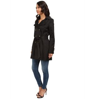 Dkny Double Breasted Short Hooded Trench Coat
