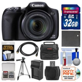 Canon PowerShot SX530 HS Wi Fi Digital Camera with 32GB Card + Case + Battery & Charger + Tripod + Kit