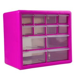The Original Pink Box 12 Compartment Parts Organizer in Pink PB12SPB