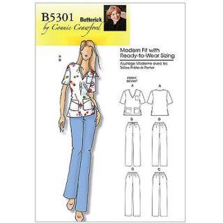 Butterick Pattern Misses' and Women's Top and Pants, Women (XXL, 1X, 2X, 3X, 4X, 5X, 6X)