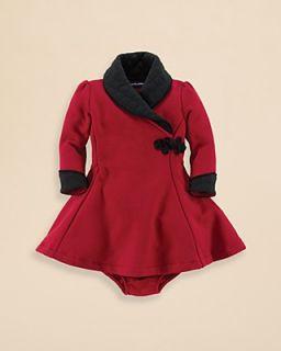Ralph Lauren Childrenswear Infant Girls' Fleece Tuxedo Dress   Sizes 9 24 Months