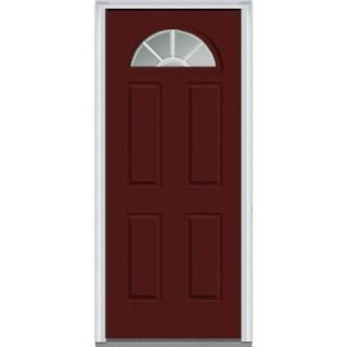 Milliken Millwork 36 in. x 80 in. Classic Clear Glass GBG 1/4 Lite Painted Builder's Choice Steel Prehung Front Door Z005200L