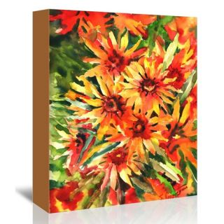 Americanflat Blanket Flowers 1 Painting Print on Gallery Wrapped