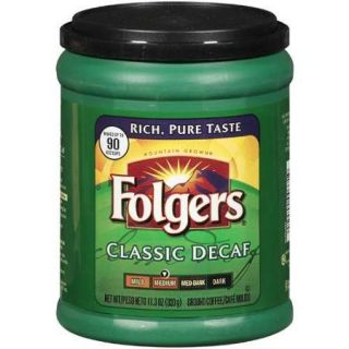 Folgers Medium Classic Decaf Ground Coffee, 11.3 oz