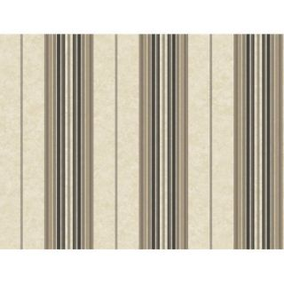Brewster Home Fashions Brilliance Poppy Baroque 27' x 27'' Stripes 3D Embossed Wallpaper