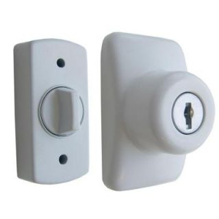 IDEAL Security Keyed Deadbolt Painted in White SKGLKW