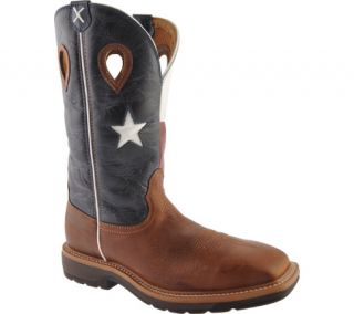 Mens Twisted X Boots MLCW007   Brown/Texas Flag Leather