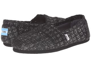 TOMS Seasonal Classics Black Glitter Wool