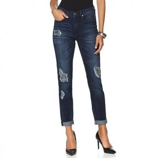 DG2 by Diane Gilman SuperStretch Patched Skinny Jean   Banks Wash   8117260