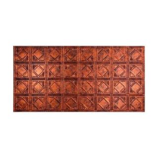 Fasade Traditional 4   2 ft. x 4 ft. Glue up Ceiling Tile in Moonstone Copper G53 18