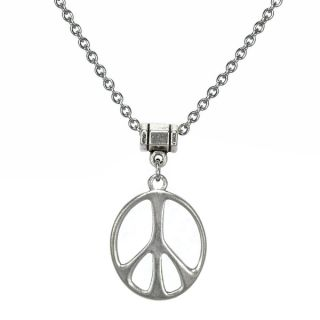 Jewelry by Dawn Stainless Steel Unisex Peace Sign Necklace   16349068